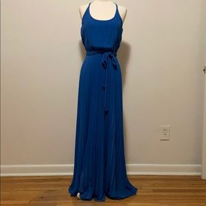 Jessica Simpson Blue Pleated Maxi Dress
